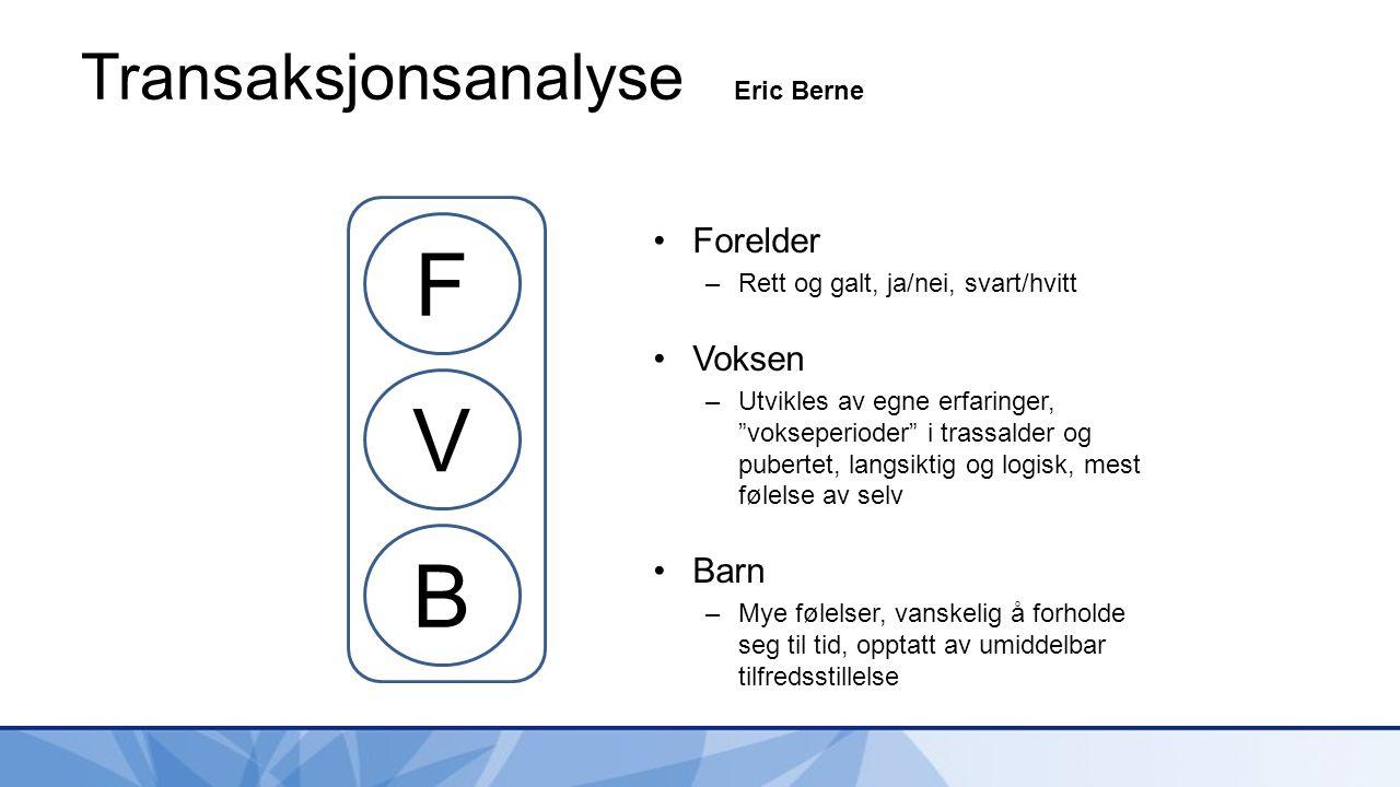 Transaksjonsanalyse Eric Berne