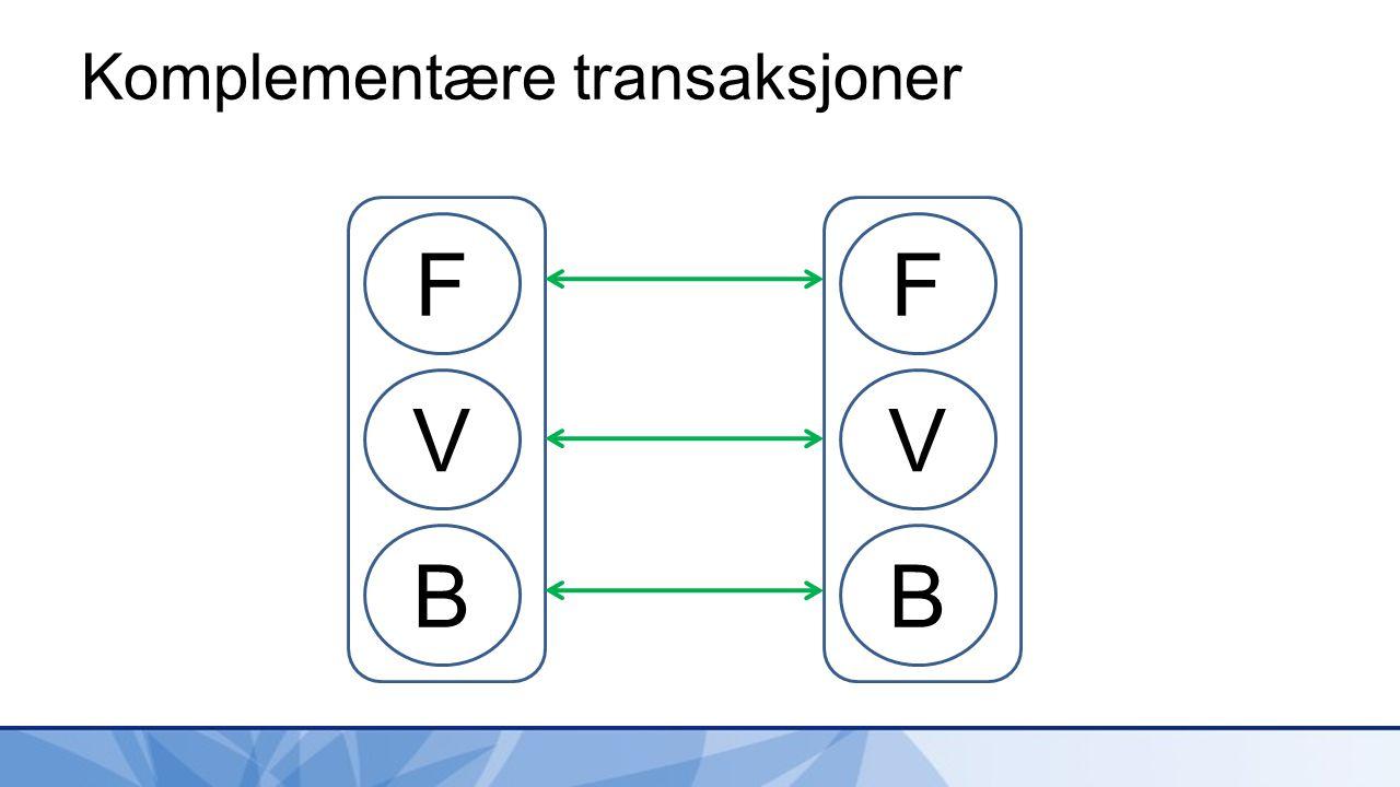 Komplementære transaksjoner