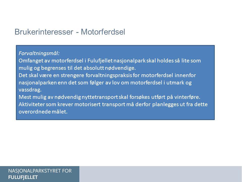 Brukerinteresser - Motorferdsel