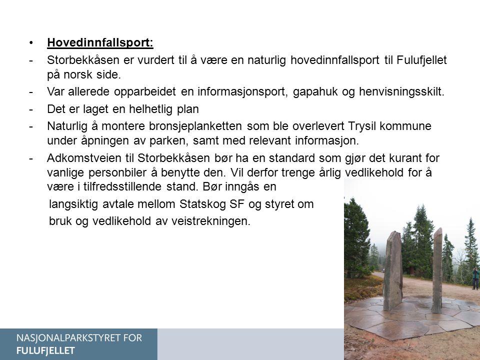 Hovedinnfallsport: Storbekkåsen er vurdert til å være en naturlig hovedinnfallsport til Fulufjellet på norsk side.