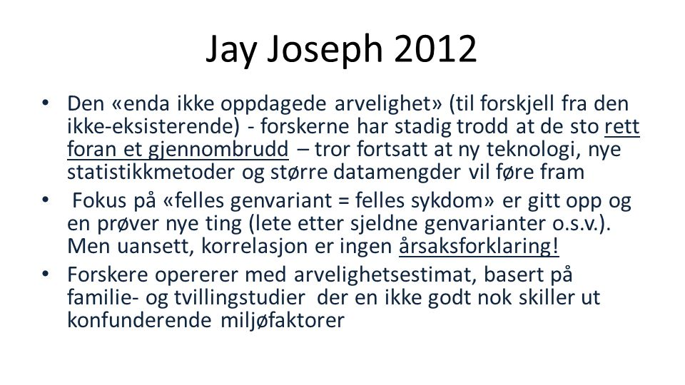 Jay Joseph 2012