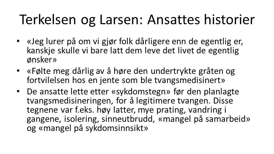Terkelsen og Larsen: Ansattes historier
