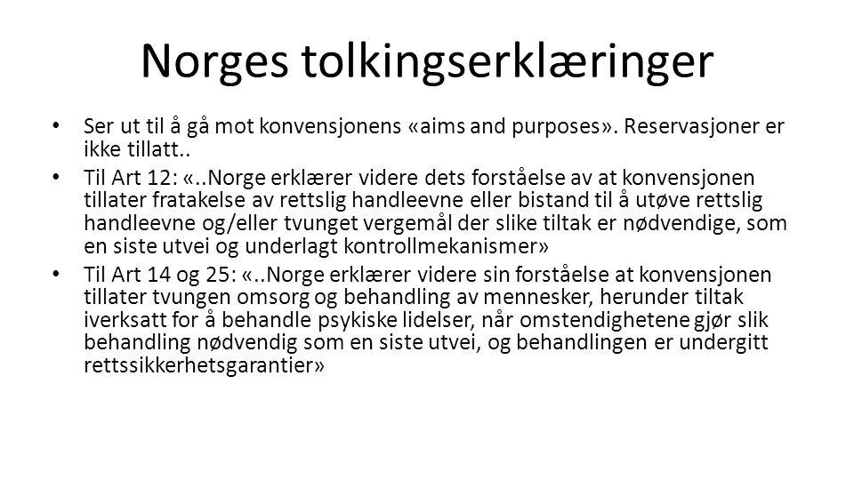 Norges tolkingserklæringer