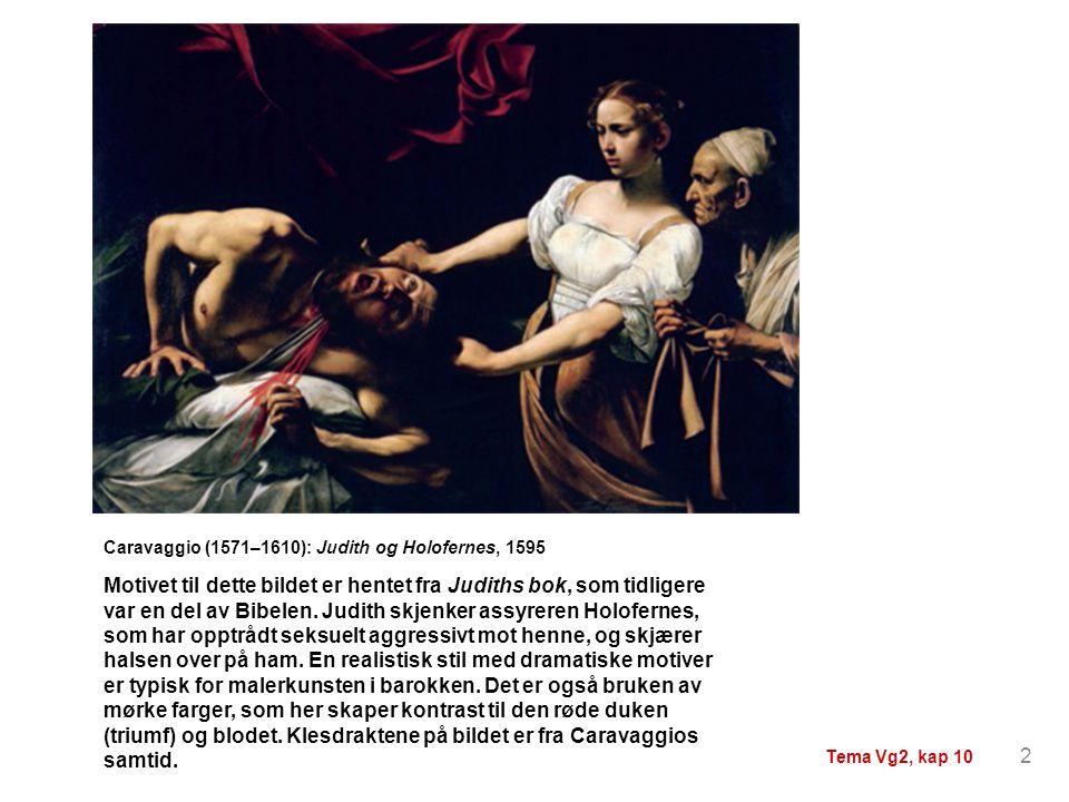 Caravaggio (1571–1610): Judith og Holofernes, 1595