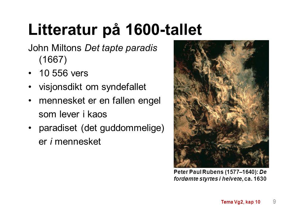 Litteratur på 1600-tallet John Miltons Det tapte paradis (1667)