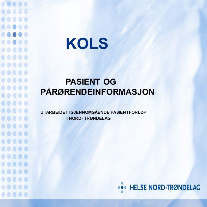 KOLS PASIENT OG PÅRØRENDEINFORMASJON