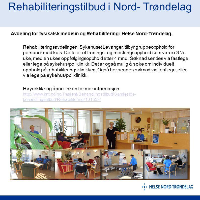 Rehabiliteringstilbud i Nord- Trøndelag