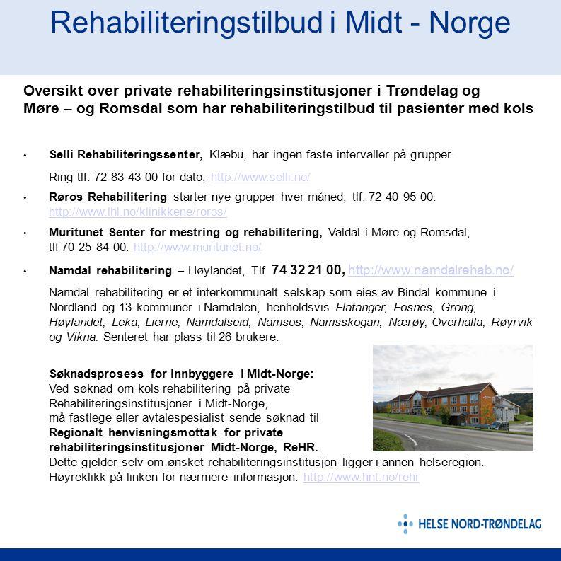 Rehabiliteringstilbud i Midt - Norge