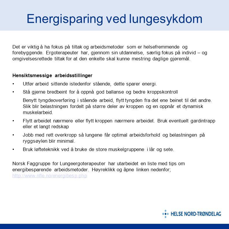 Energisparing ved lungesykdom