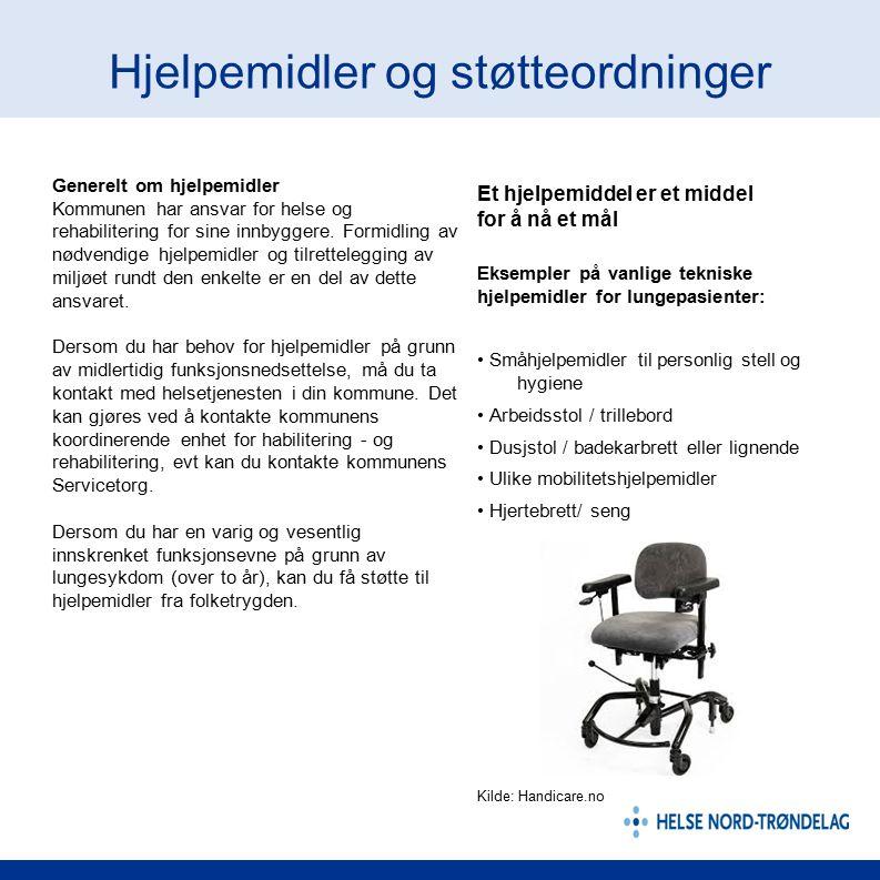 Hjelpemidler og støtteordninger