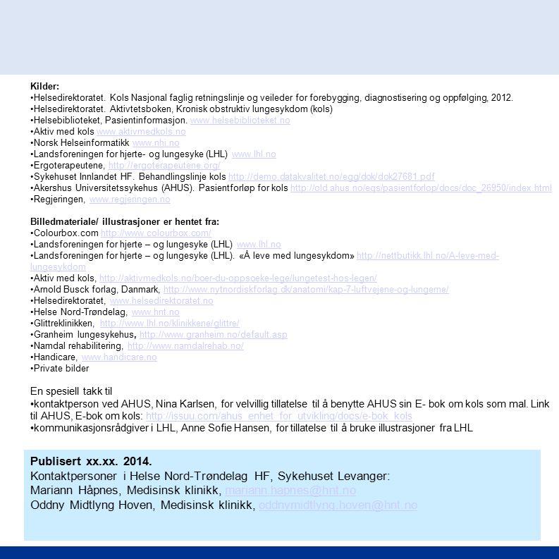Kontaktpersoner i Helse Nord-Trøndelag HF, Sykehuset Levanger: