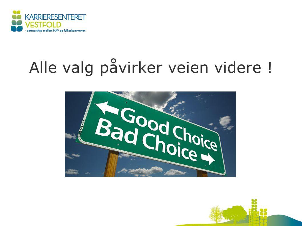 Alle valg påvirker veien videre !
