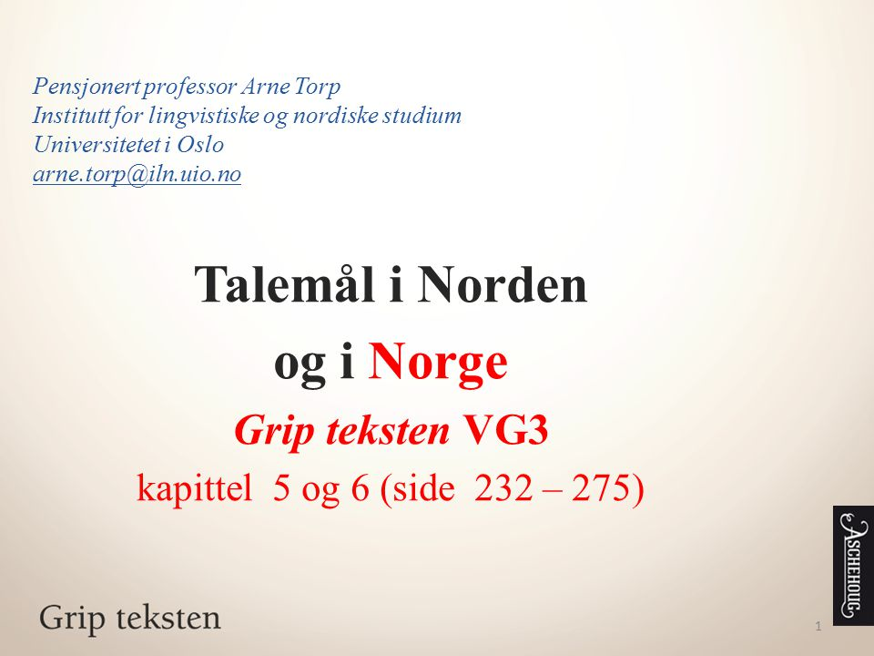 Talemål i Norden og i Norge