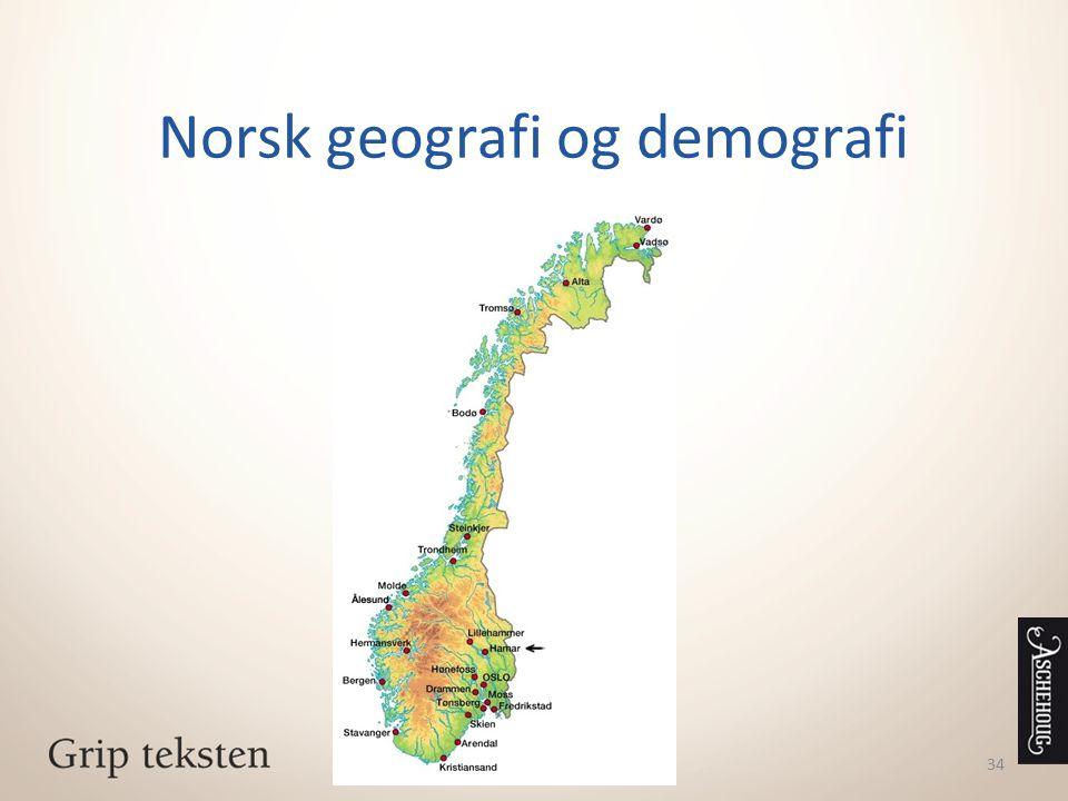 Norsk geografi og demografi