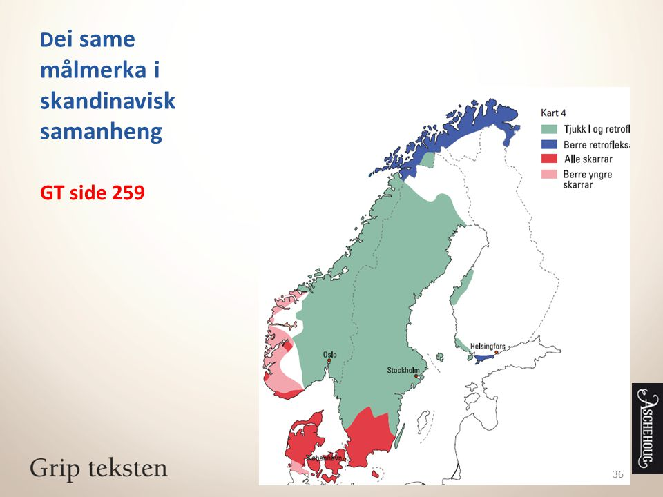 Dei same målmerka i skandinavisk samanheng