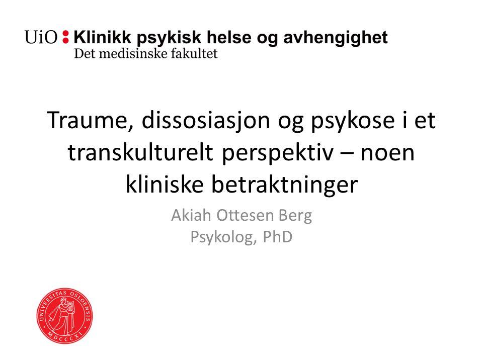 Akiah Ottesen Berg Psykolog, PhD