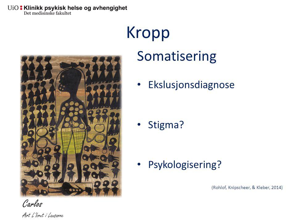Kropp Somatisering Carlos Ekslusjonsdiagnose Stigma Psykologisering