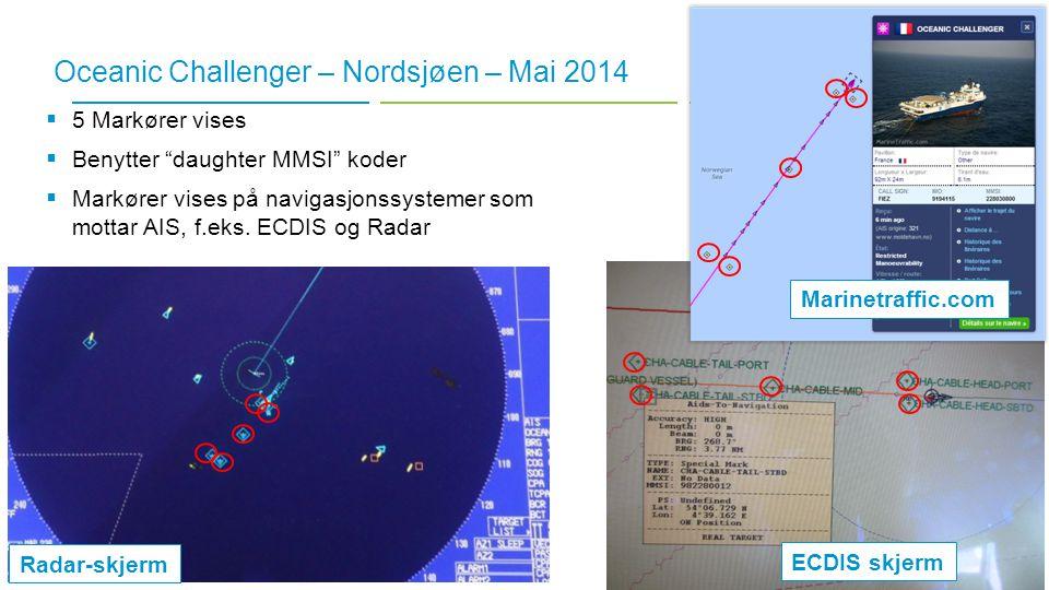 Oceanic Challenger – Nordsjøen – Mai 2014