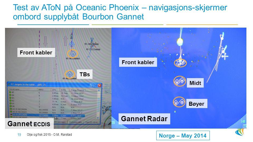 Test av AToN på Oceanic Phoenix – navigasjons-skjermer ombord supplybåt Bourbon Gannet