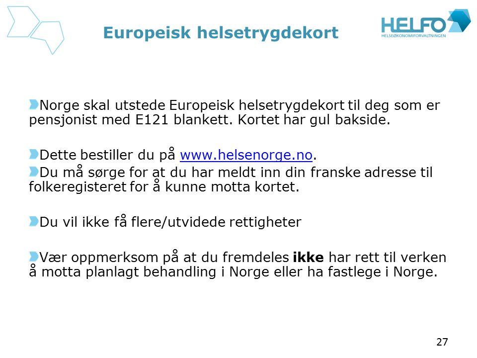 Europeisk helsetrygdekort