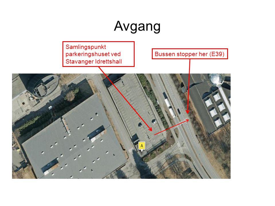 Avgang O Samlingspunkt parkeringshuset ved Stavanger Idrettshall