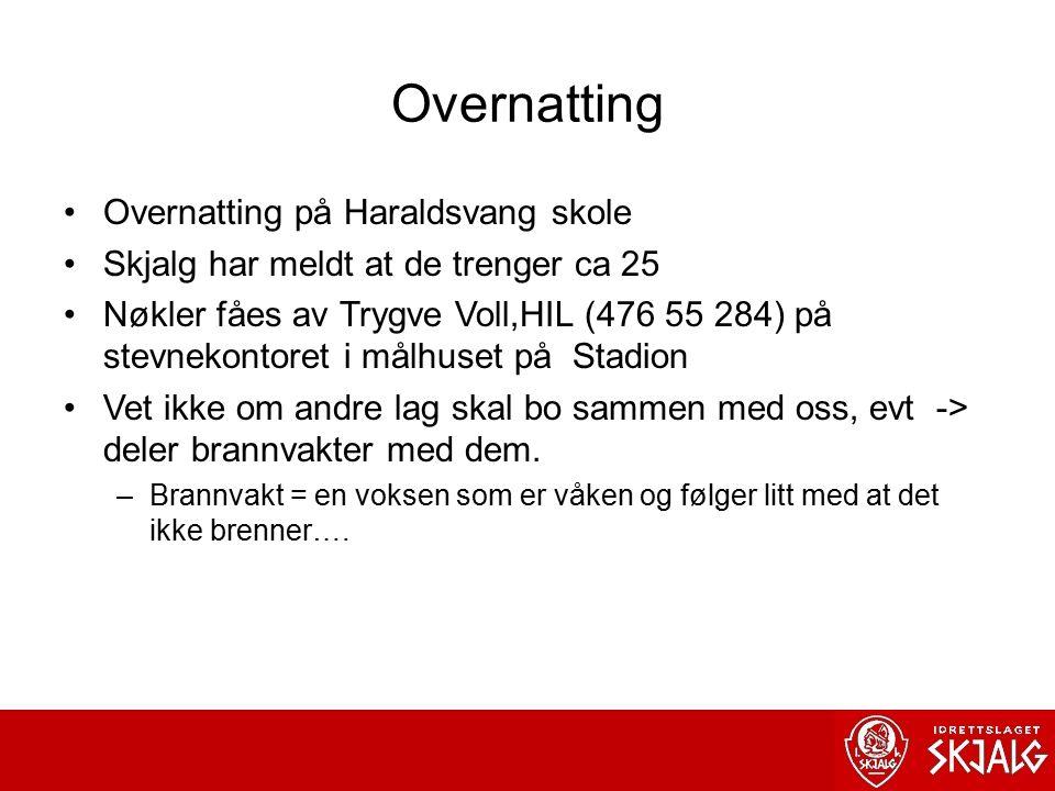 Overnatting Overnatting på Haraldsvang skole