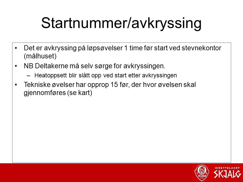 Startnummer/avkryssing