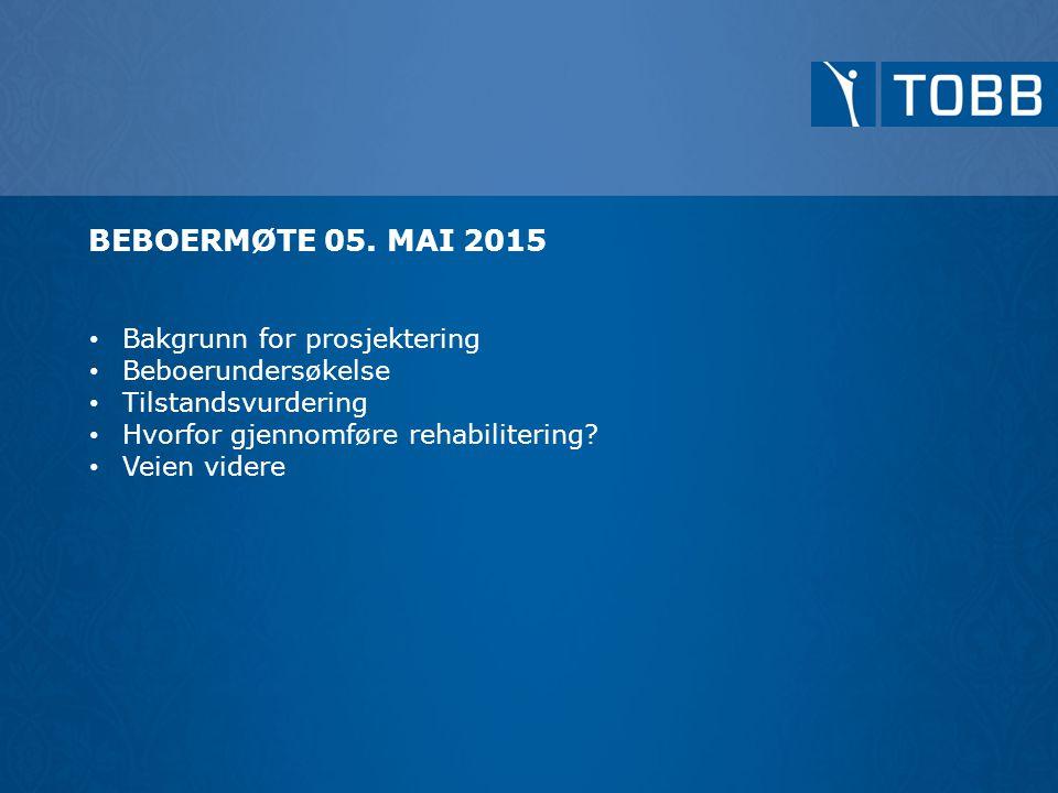 BEBOERMØTE 05. MAI 2015 Bakgrunn for prosjektering Beboerundersøkelse