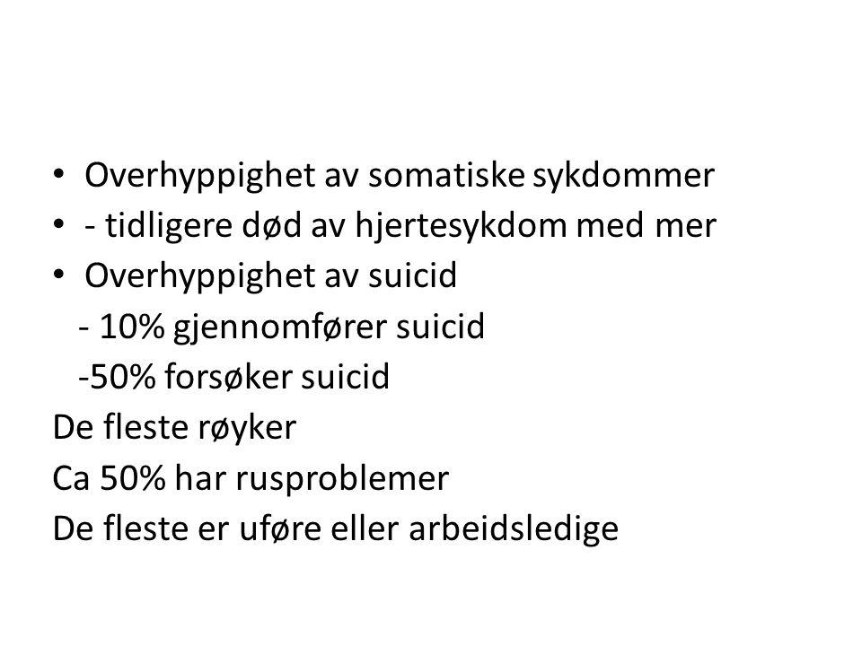 Overhyppighet av somatiske sykdommer