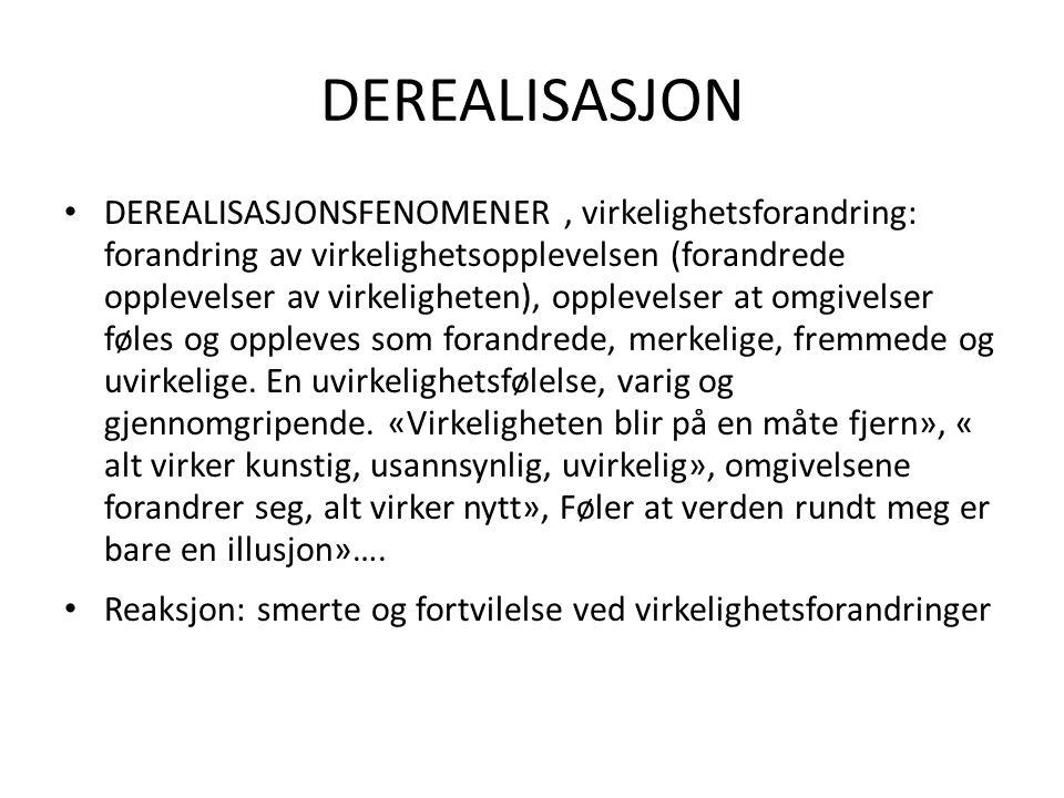 DEREALISASJON