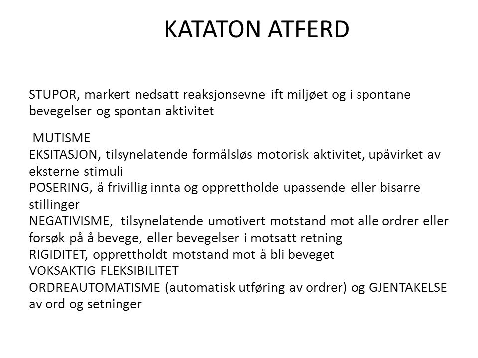 KATATON ATFERD