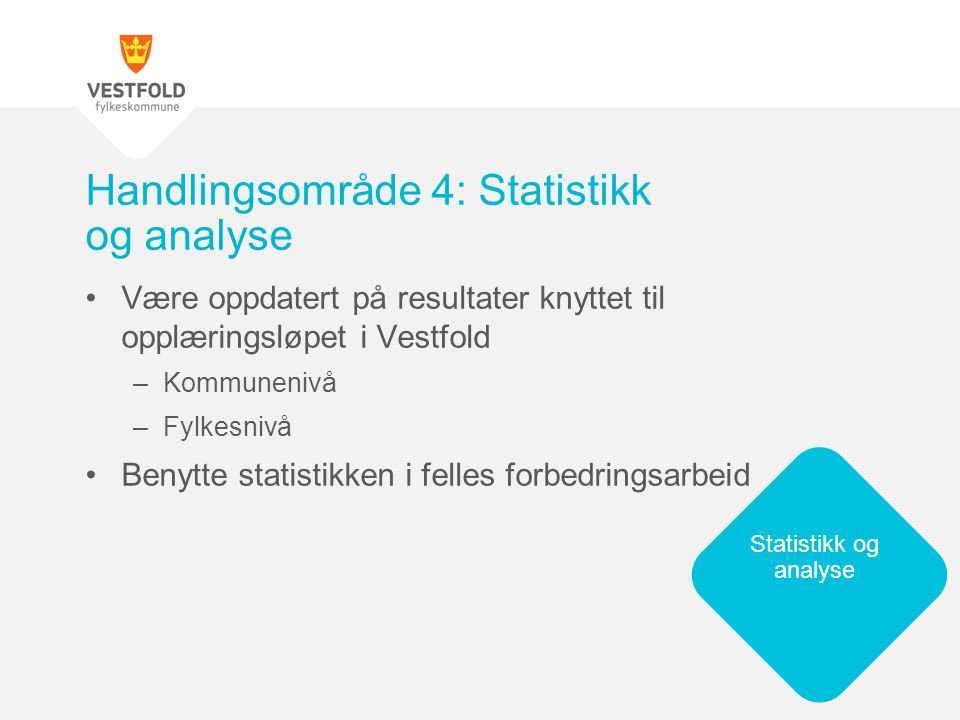 Handlingsområde 4: Statistikk og analyse