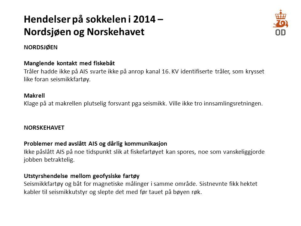 Hendelser på sokkelen i 2014 – Nordsjøen og Norskehavet