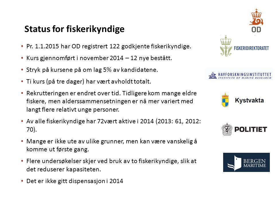Status for fiskerikyndige
