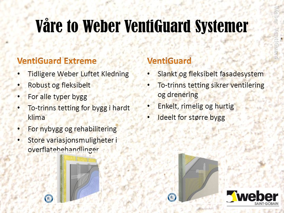 Våre to Weber VentiGuard Systemer