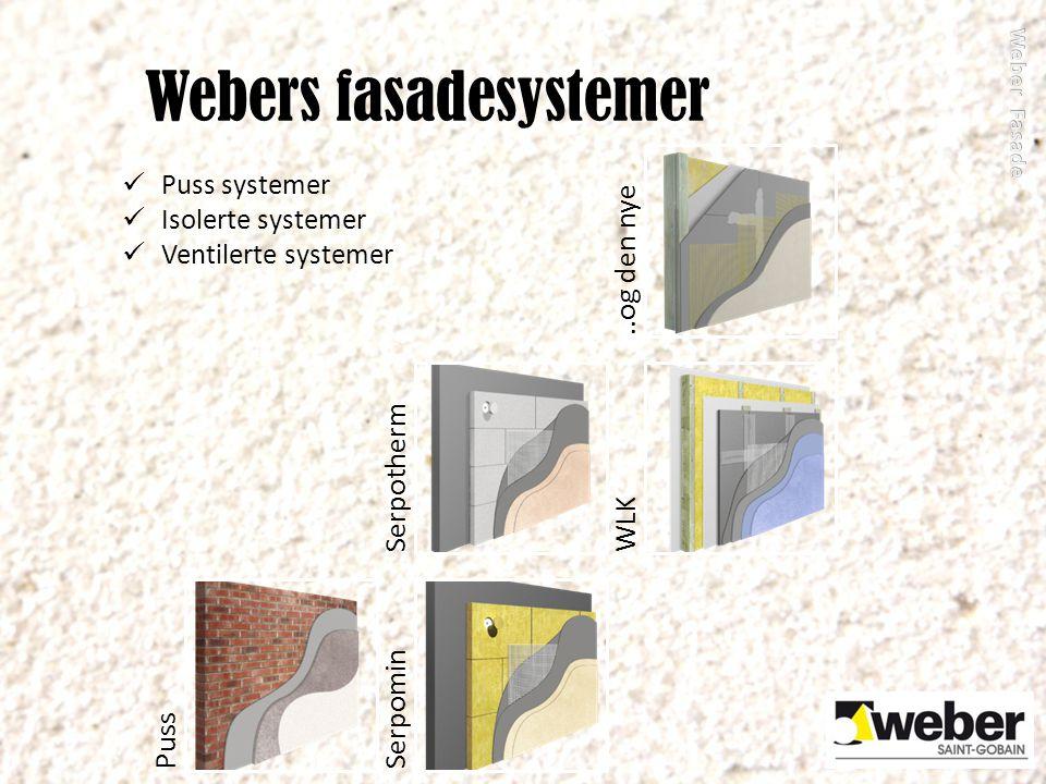 Webers fasadesystemer