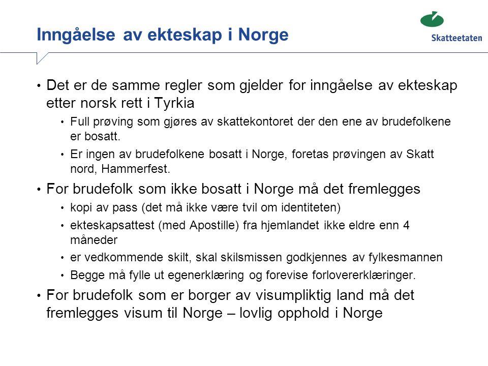 Inngåelse av ekteskap i Norge