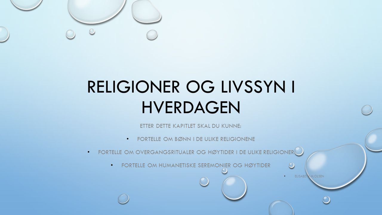 Religioner og livssyn i hverdagen