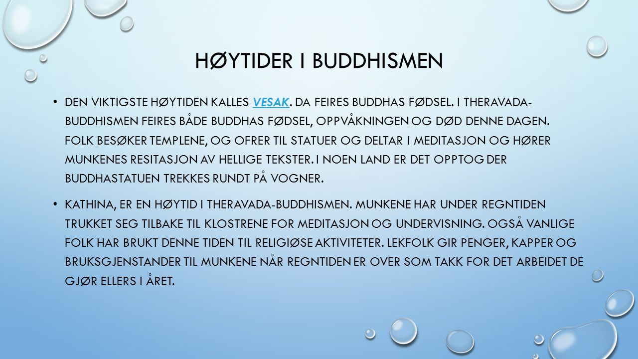 Høytider i buddhismen
