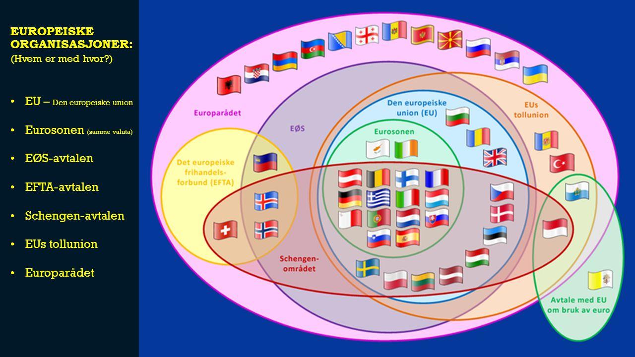 Europeiske organisasjoner: