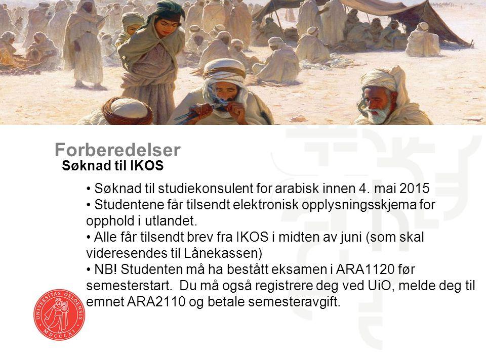 Forberedelser Søknad til IKOS