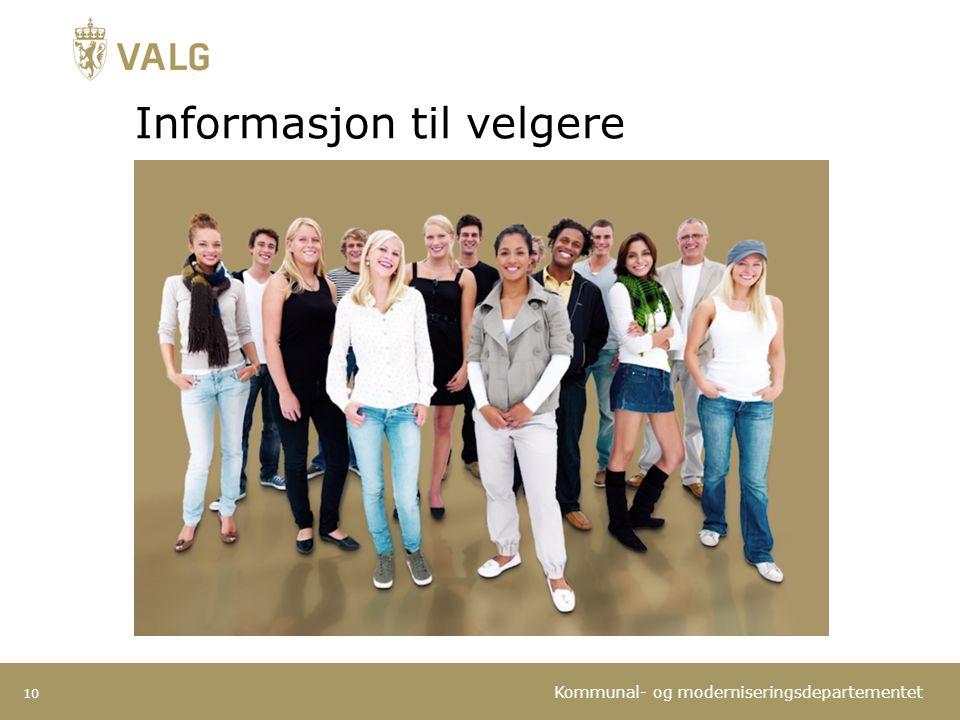 Informasjon til velgere