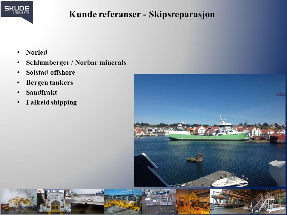 Kunde referanser - Skipsreparasjon