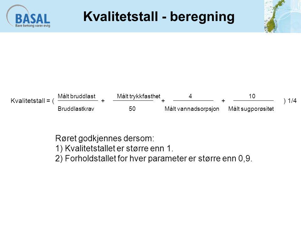 Kvalitetstall - beregning