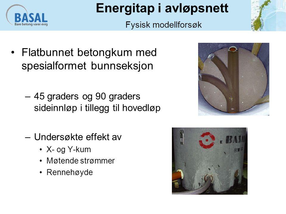 Energitap i avløpsnett Fysisk modellforsøk