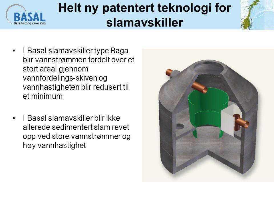 Helt ny patentert teknologi for slamavskiller