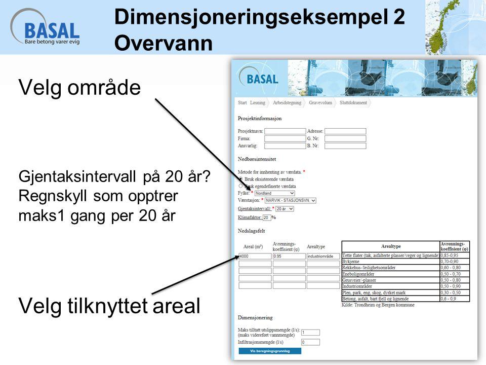 Dimensjoneringseksempel 2 Overvann