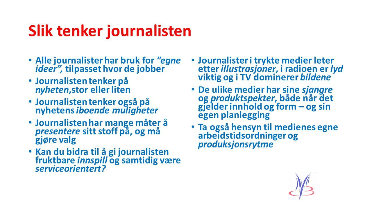 Slik tenker journalisten