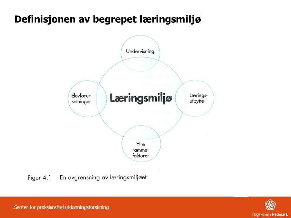Definisjonen av begrepet læringsmiljø
