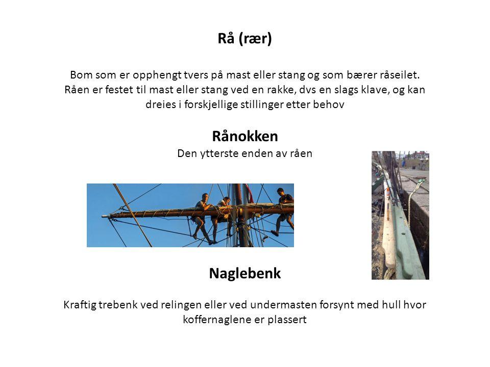Rå (rær) Rånokken Naglebenk